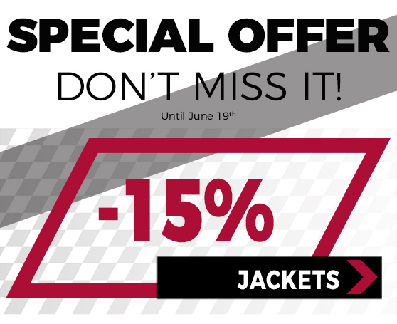 15%off in all jackets